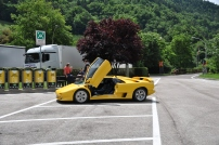 Just a Lambo at a rest stop!